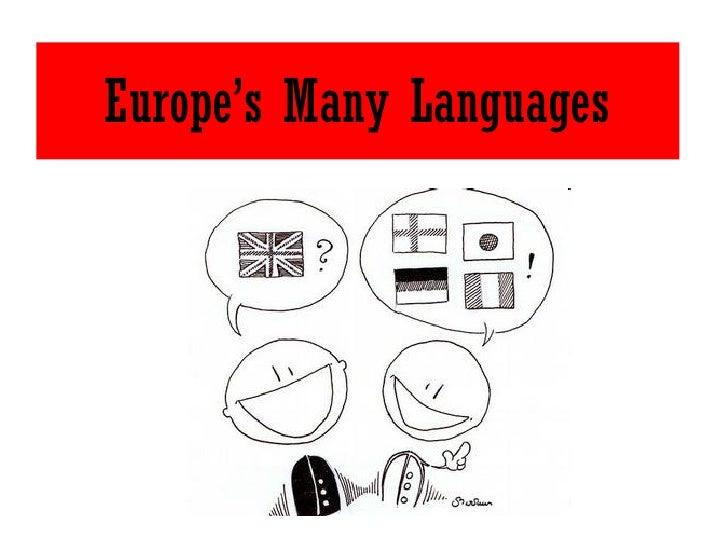 Europe's Many Languages