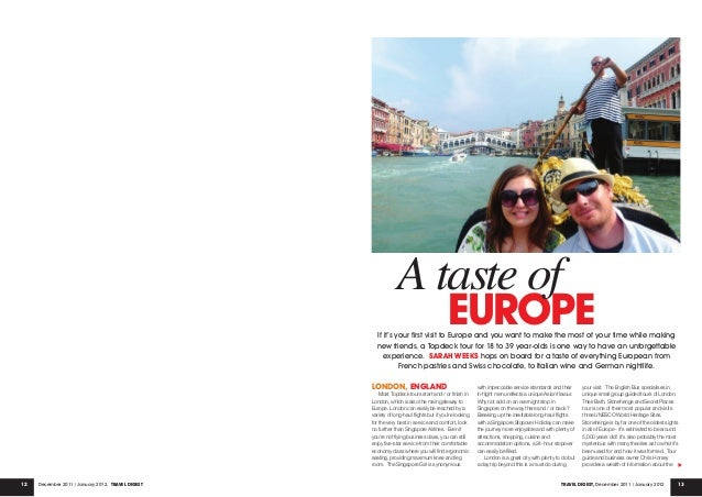 12 13December 2011 / January 2012, Travel Digest Travel Digest, December 2011 / January 2012 EUROPE London, ENGLAND Most T...