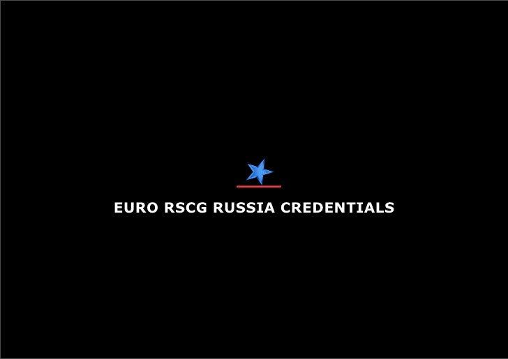 Euro RSCG Russia PR credentials