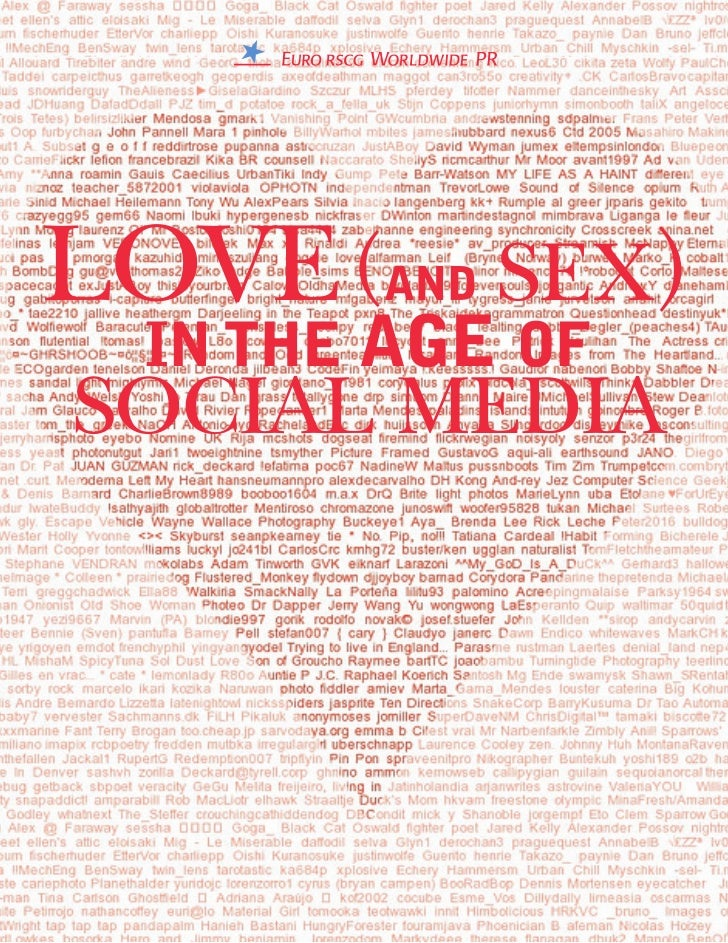 LOVE (AND SEX)  IN THE AGE OFSOCIAL MEDIA