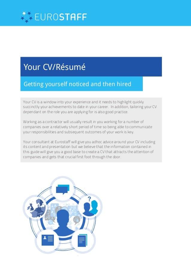 Eurostaff | CV Tips (Contract Employment)