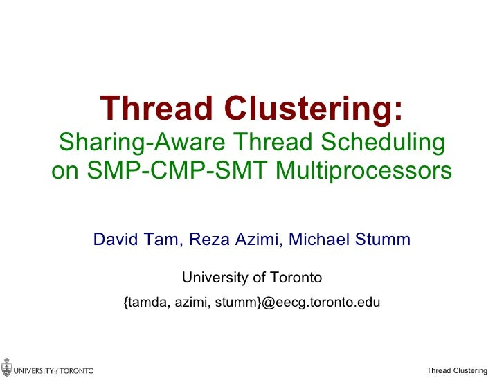 thread-clustering