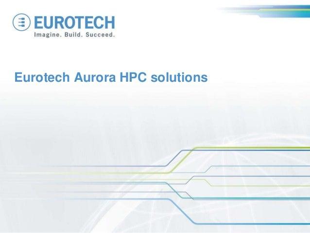 Eurotech Aurora HPC solutions