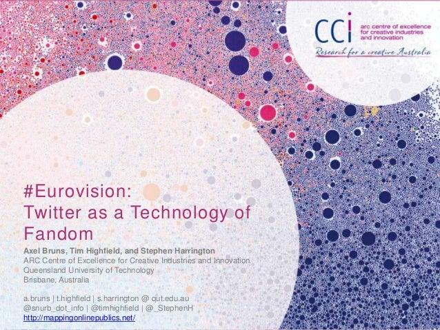 #Eurovision: Twitter as a Technology of Fandom