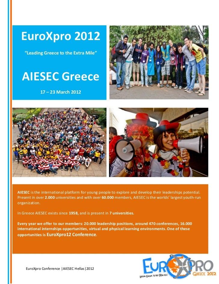 Euroxpro 2012 Events Presentation