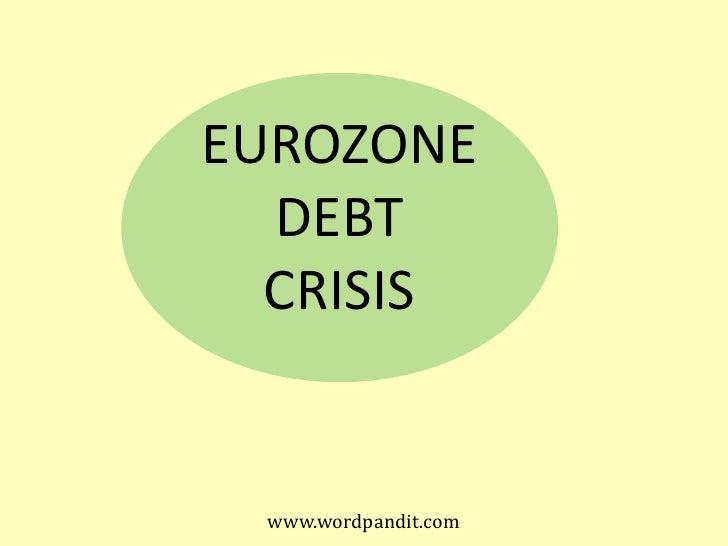 Eurozone debt crises