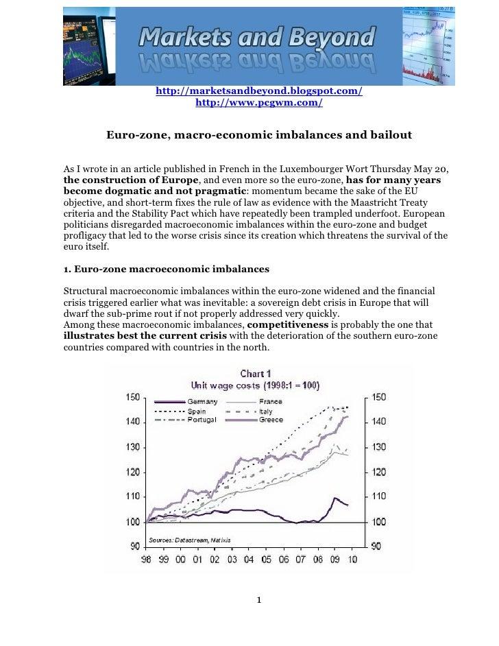 Eurozone, macro economic imbalances and the bailout