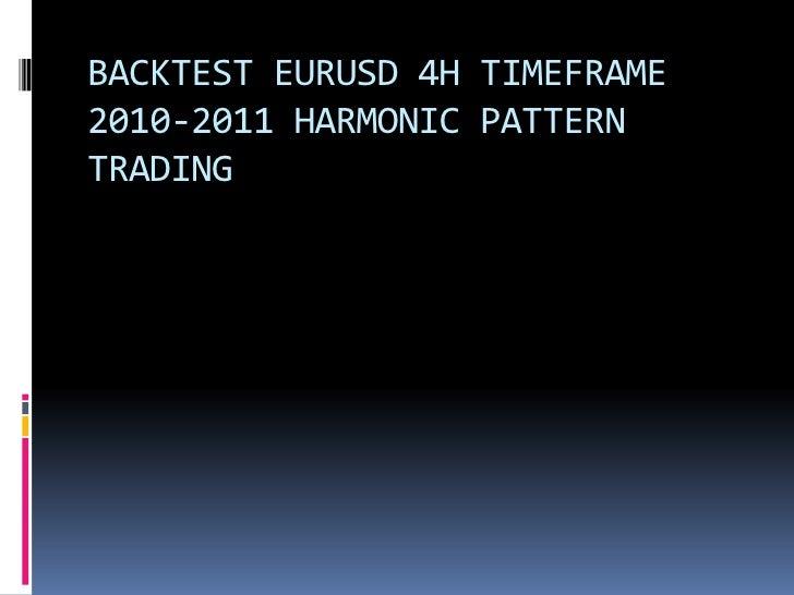 BACKTEST EURUSD 4H TIMEFRAME2010-2011 HARMONIC PATTERNTRADING