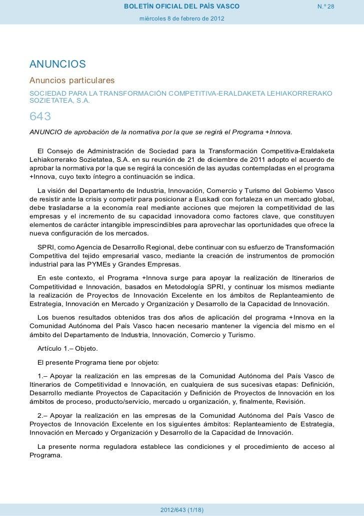 BOLETÍN OFICIAL DEL PAÍS VASCO                                 N.º 28                                   miércoles 8 de feb...