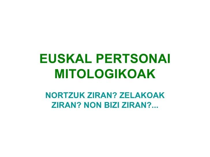 Euskal pertsonai mitologikoak