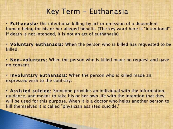 assisted suicide euthenasia essay