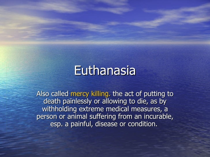scientific research on euthanasia