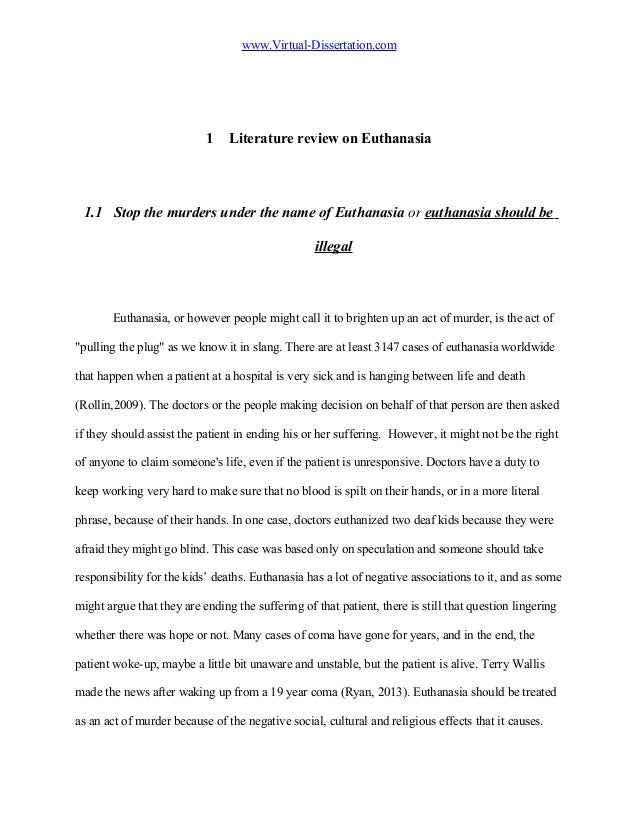 Euthanasia Research Paper Conclusion