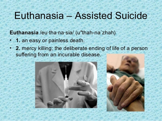 death and euthanasia Euthanasia - persuasive speech  citizens for death with dignity against euthanasia: national right to life committee by nour berro murder or.