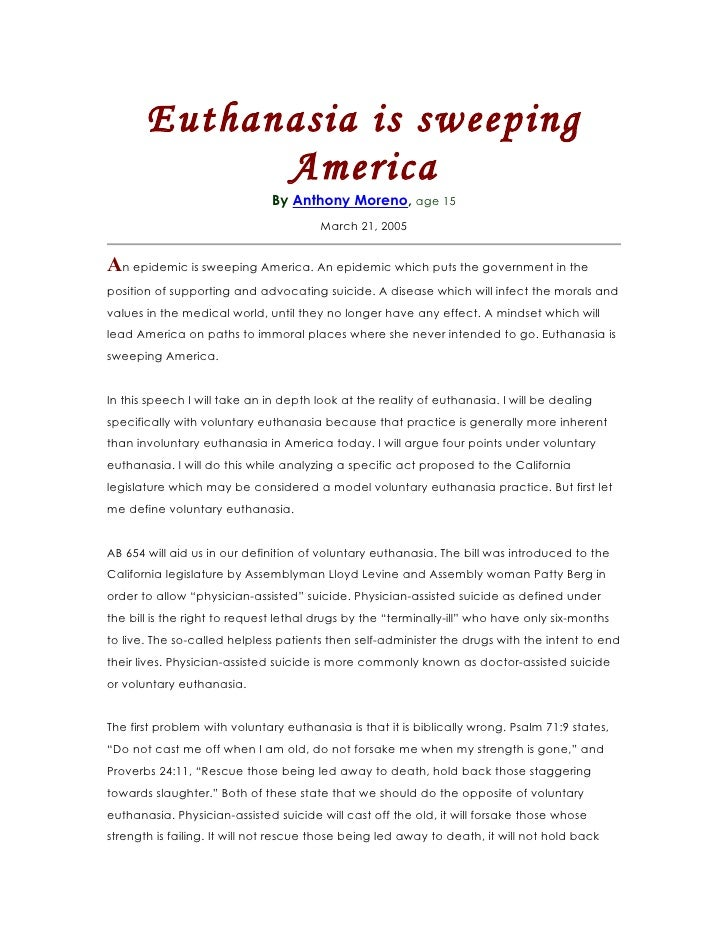 Euthanasia Is Sweeping America