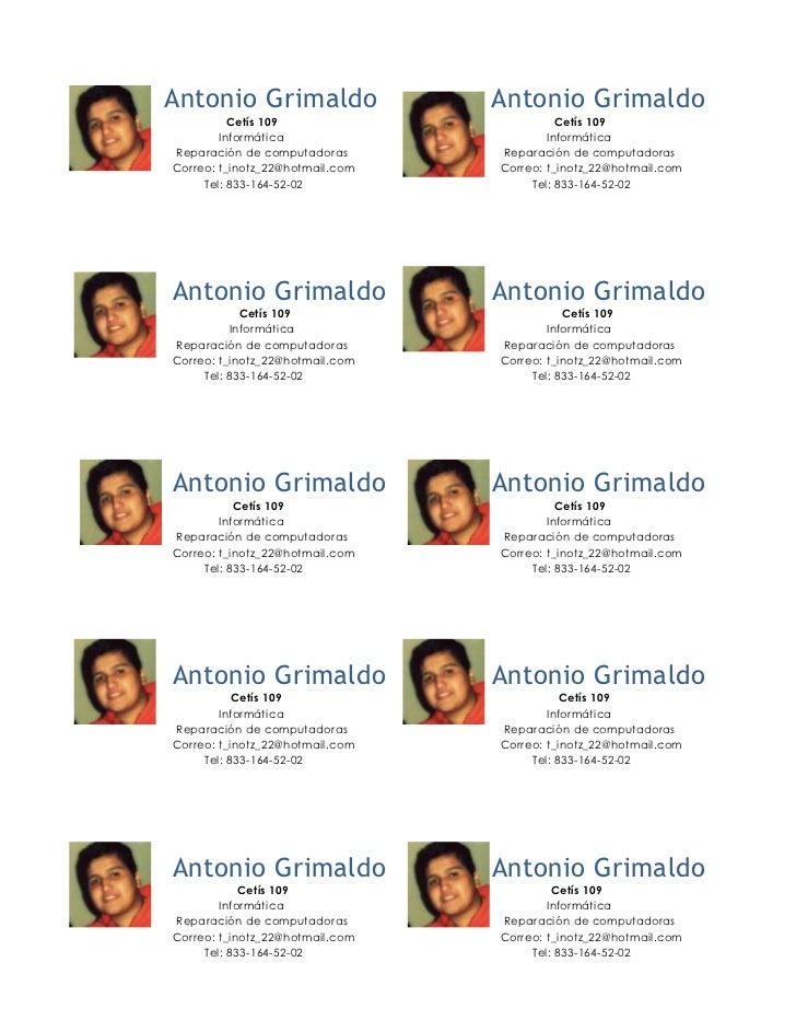 Antonio Grimaldo                 Antonio Grimaldo          Cetís 109                        Cetís 109        Informática  ...