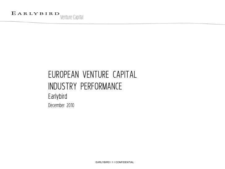 European VC Performance (Earlybird VC presentation)