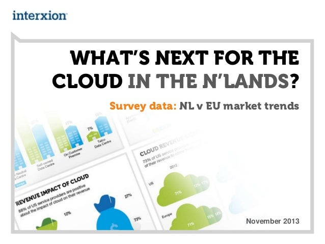WHAT'S NEXT FOR THE CLOUD IN THE N'LANDS? Survey data: NL v EU market trends  November 2013