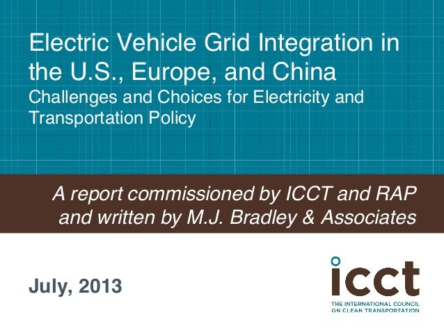 Electric Vehicle Grid Integration in the U.S., Europe, and China