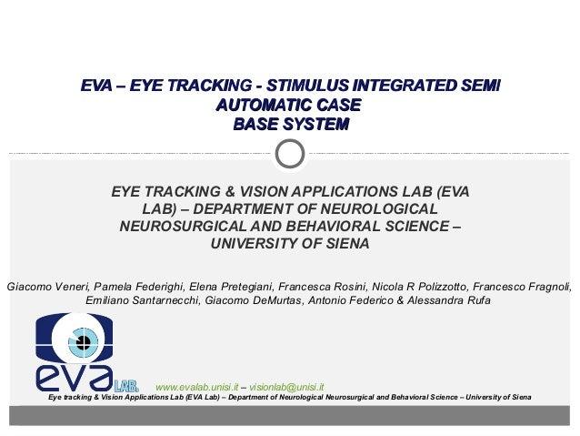 EVA – EYE TRACKING - STIMULUS INTEGRATED SEMI                              AUTOMATIC CASE                                B...