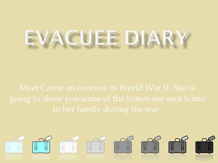 Evacuee Diary