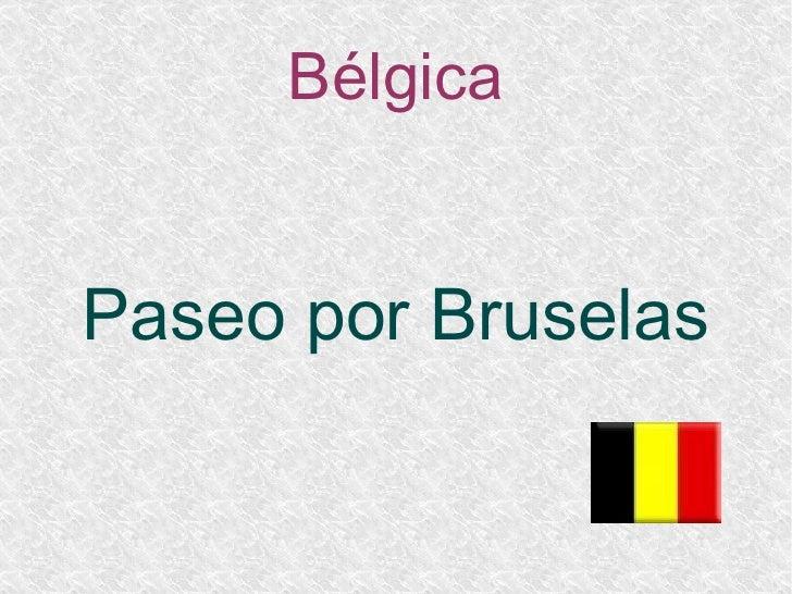 Bélgica Paseo por Bruselas