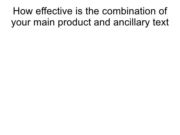 How effective is the combination ofyour main product and ancillary text