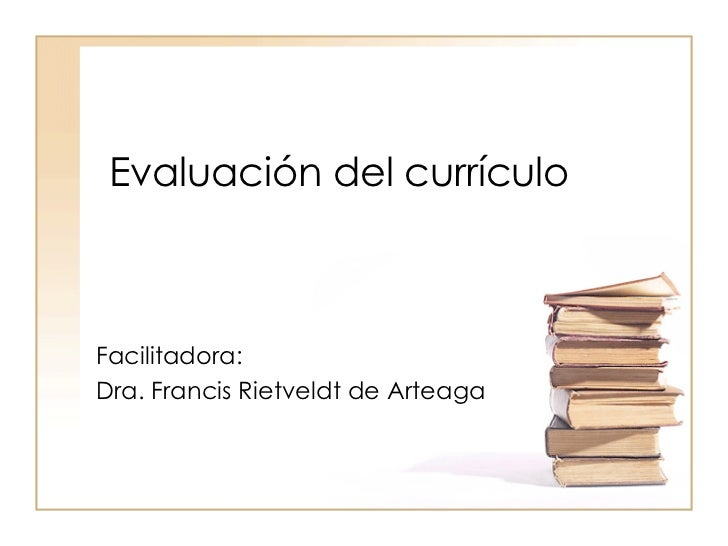 EvaluacióN Del CurríCulo