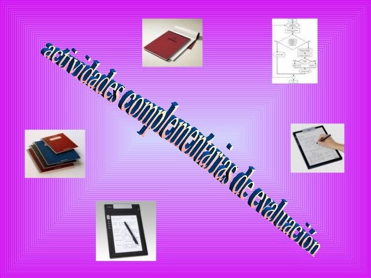 actividades complementarias de evaluación