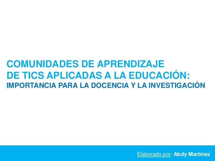 Evaluación comunidades aprendizaje-abdy_martínez