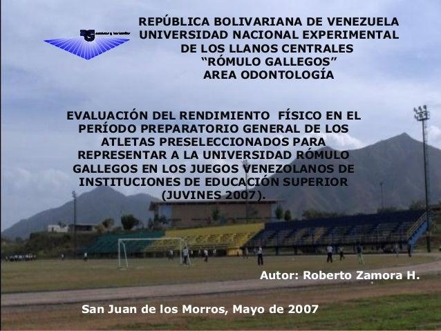 """REPÚBLICA BOLIVARIANA DE VENEZUELA UNIVERSIDAD NACIONAL EXPERIMENTAL DE LOS LLANOS CENTRALES """"RÓMULO GALLEGOS"""" AREA ODONTO..."""