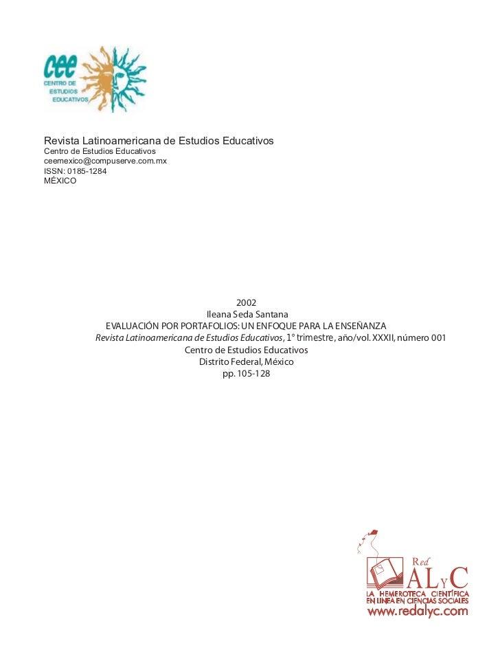 Revista Latinoamericana de Estudios EducativosCentro de Estudios Educativosceemexico@compuserve.com.mxISSN: 0185-1284MÉXIC...