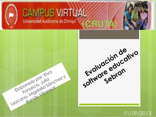 Evaluación de software educativo sebran