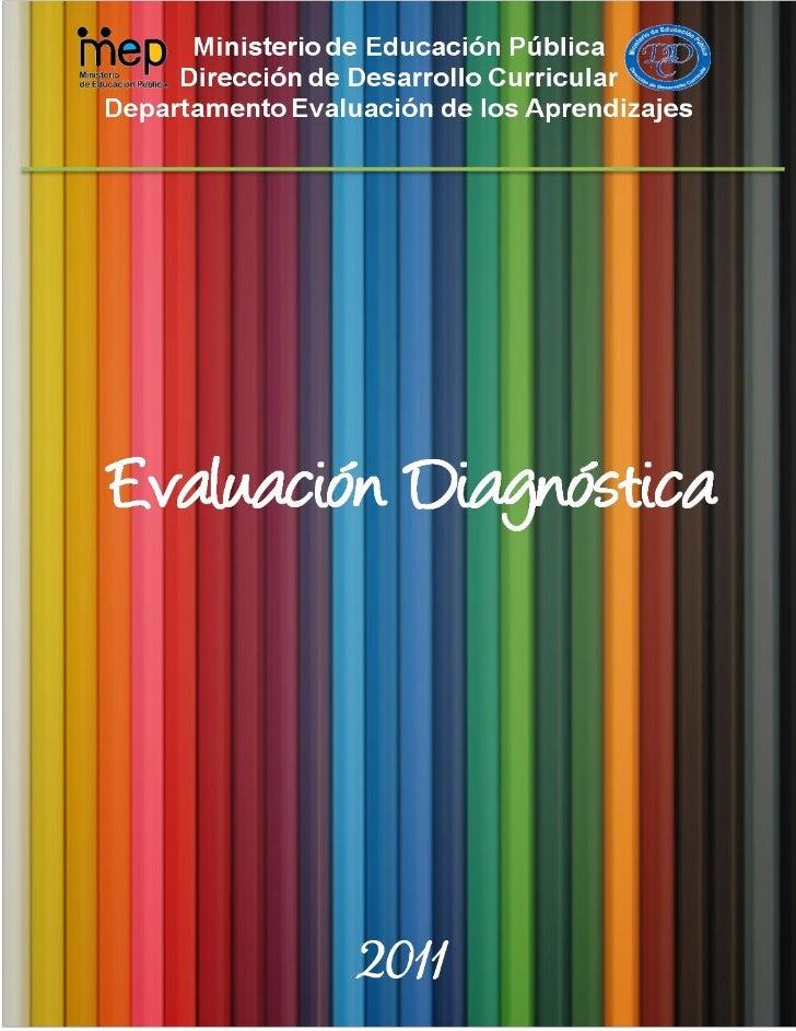 Evaluación diagnóstica 2011