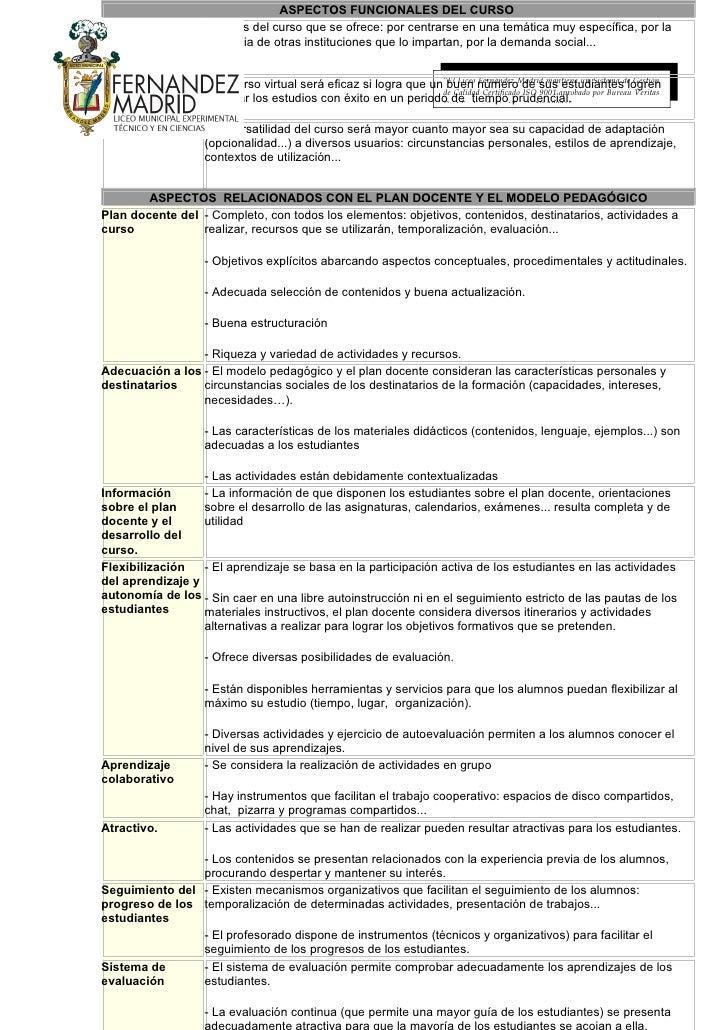 ASPECTOS FUNCIONALES DEL CURSO Interés del curso - Interés del curso que se ofrece: por centrarse en una temática muy espe...