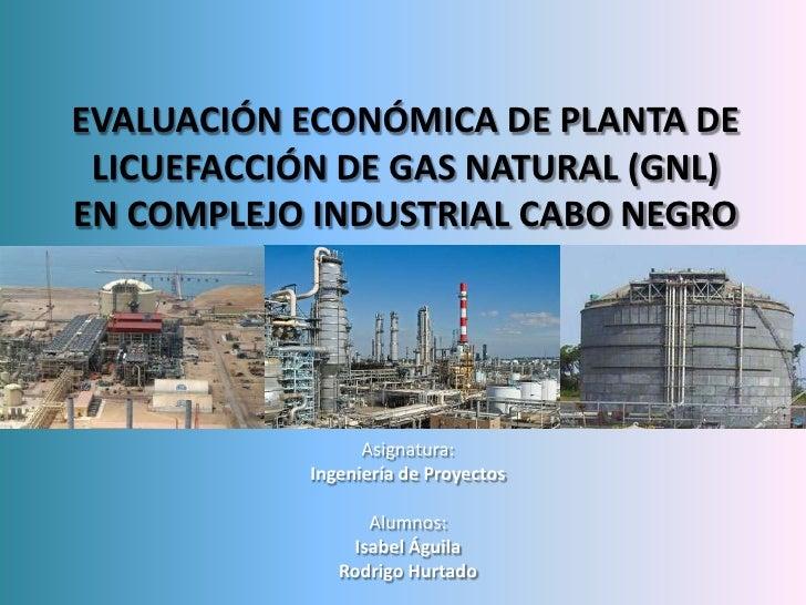 EVALUACIÓN ECONÓMICA DE PLANTA DE LICUEFACCIÓN DE GAS NATURAL (GNL)EN COMPLEJO INDUSTRIAL CABO NEGRO                  Asig...