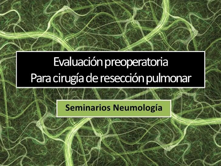EvaluacióN Preoperatoria 2010