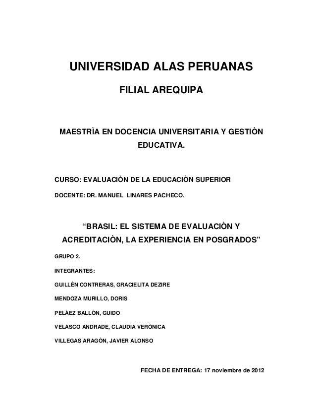 UNIVERSIDAD ALAS PERUANAS                    FILIAL AREQUIPA MAESTRÌA EN DOCENCIA UNIVERSITARIA Y GESTIÒN                 ...