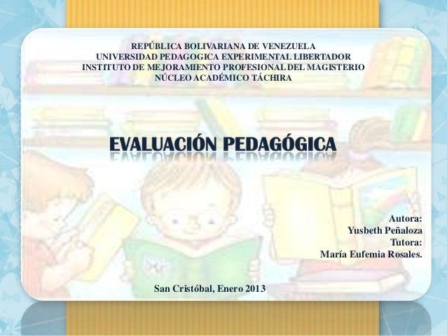 REPÚBLICA BOLIVARIANA DE VENEZUELA   UNIVERSIDAD PEDAGOGICA EXPERIMENTAL LIBERTADORINSTITUTO DE MEJORAMIENTO PROFESIONAL D...