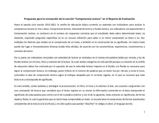 Evaluación de lectura 2013-2014