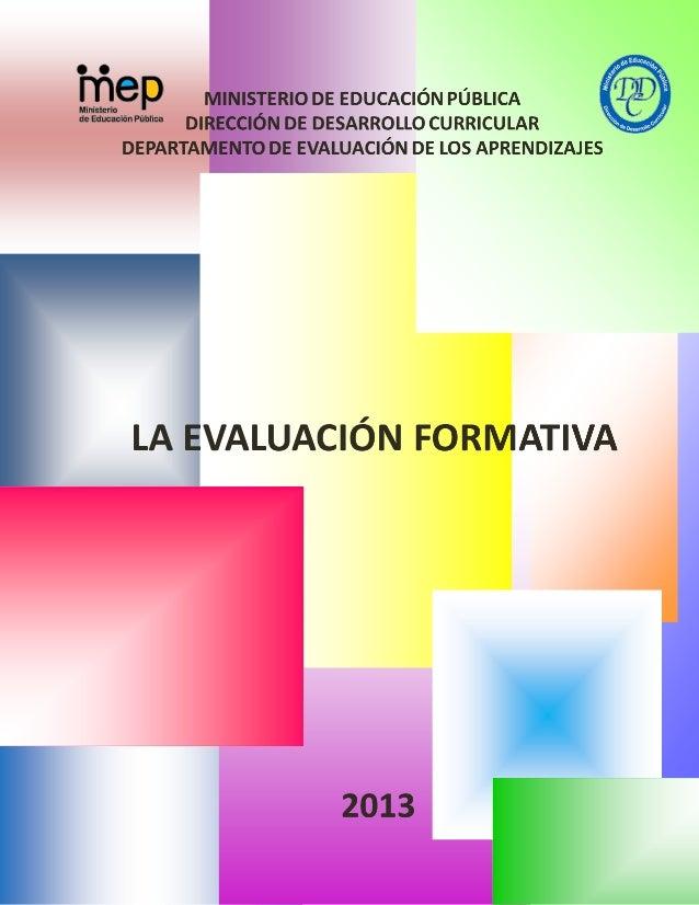 Evaluacion Formativa MEP 2013