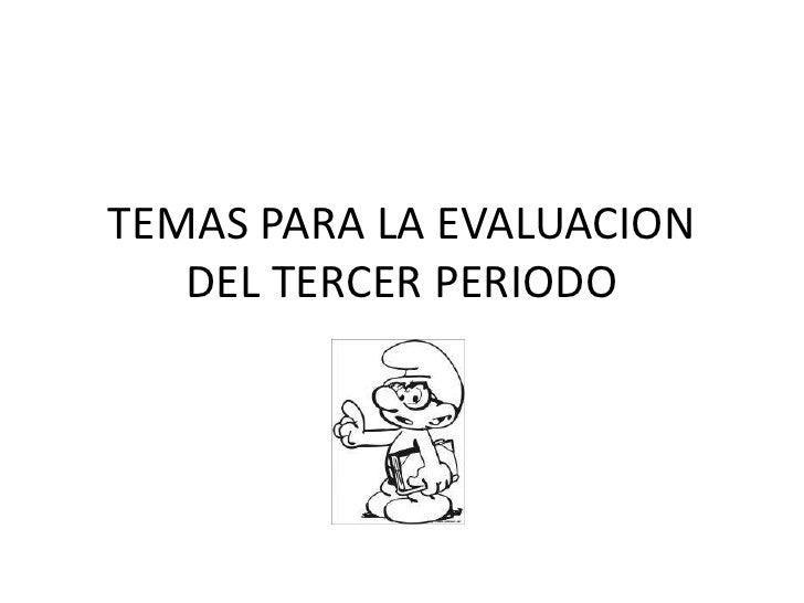 Evaluacion ciencias tercer periodo