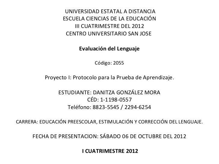 Evaluacion del lenguaje proyecto i