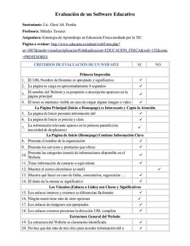 Evaluación de un Software EducativoSustentante: Lic. Gleni Alt. PeraltaProfesora: Miledys TavarezAsignatura: Estrategia de...
