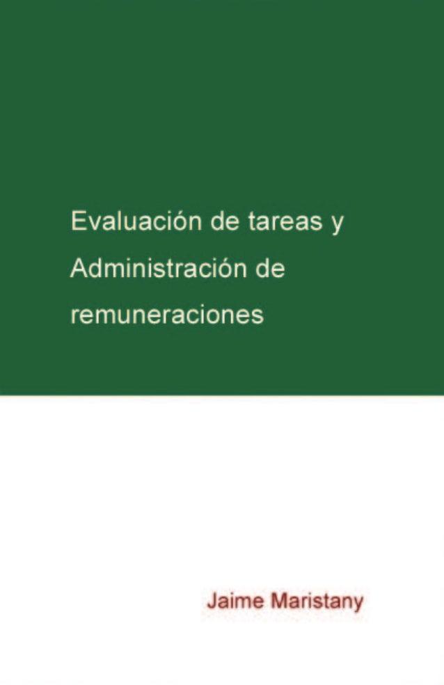 Evaluación de tareas y administración de remuneraciones