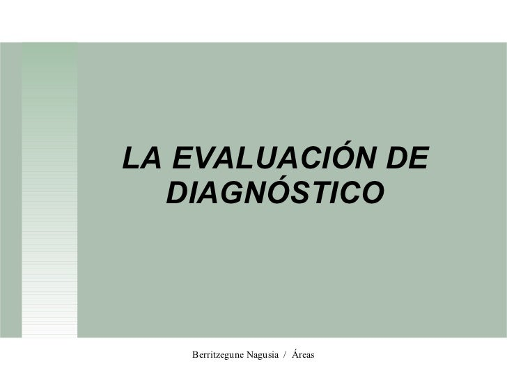 Evaluacion diagnostica tutores
