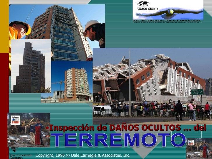 Evaluaciones de edificios victimas del terremoto en chile. 2010.  26 septiembre 2010.