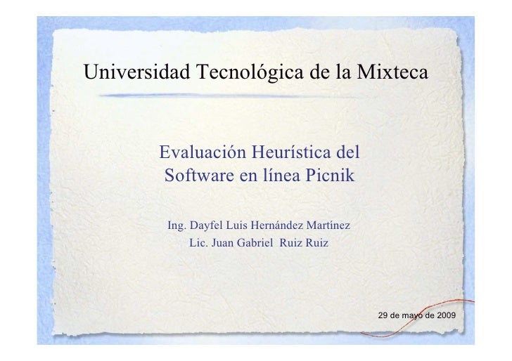 Evaluacion Heuristica