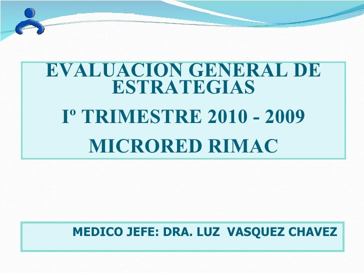 Evaluacion microred rimac 2010