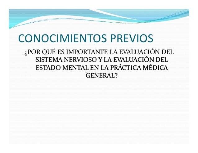 Evaluacion neurologica y examen mental